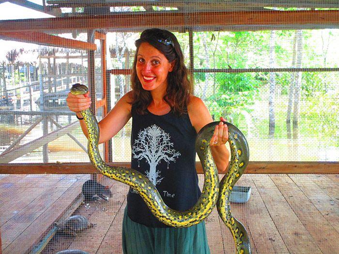 ¿En el cuello? ¡Ni hablar! Me dan pánico las serpientes ¿vale?
