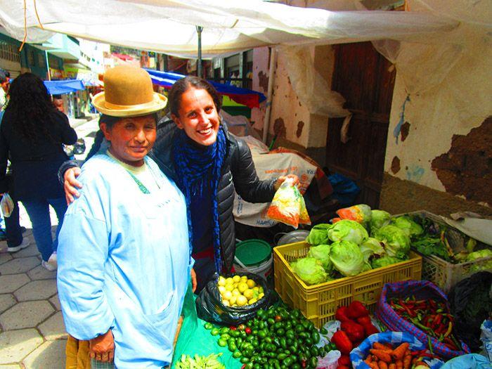 """¡Nuestra última foto con una """"cholita"""" boliviana!"""