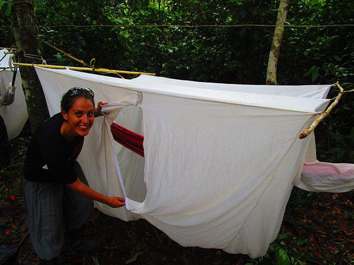 Campamento de hamacas en el Amazonas