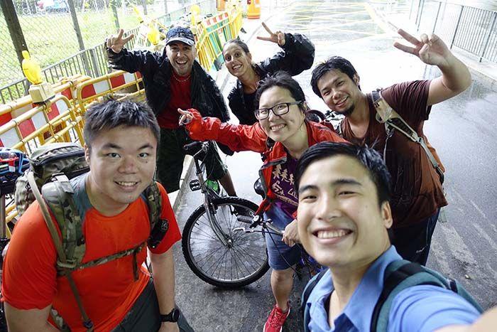 Paseo en bicicleta en las afueras de Hong Kong