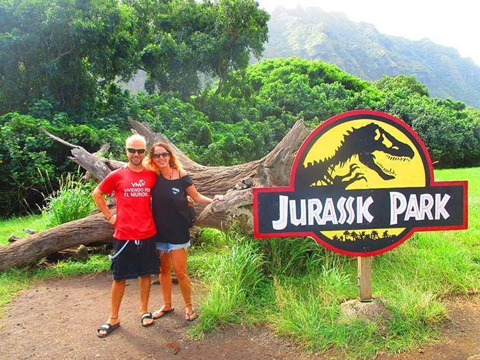 Cuando el guía me recordó que hacía más de 20 años que se rodó Jurassic Park, se me puso el pelo de este color. WTF!