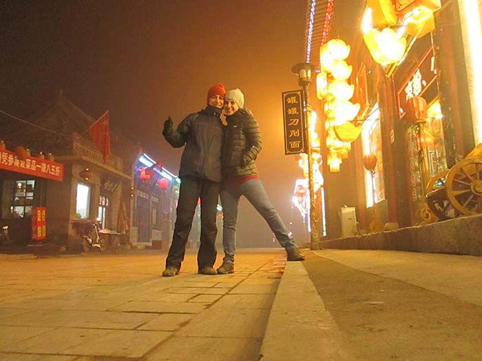 No dejes de pasear de noche por el centro de Ancient City en Pingyao