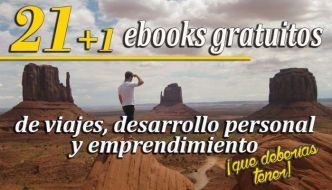 Los 22+1 ebooks gratuitos de viajes, desarrollo personal y emprendimiento que deberías tener