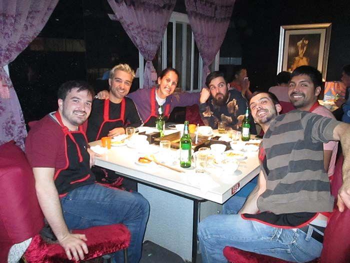 Muy buena cena de Hot Pot y buena compañía también!