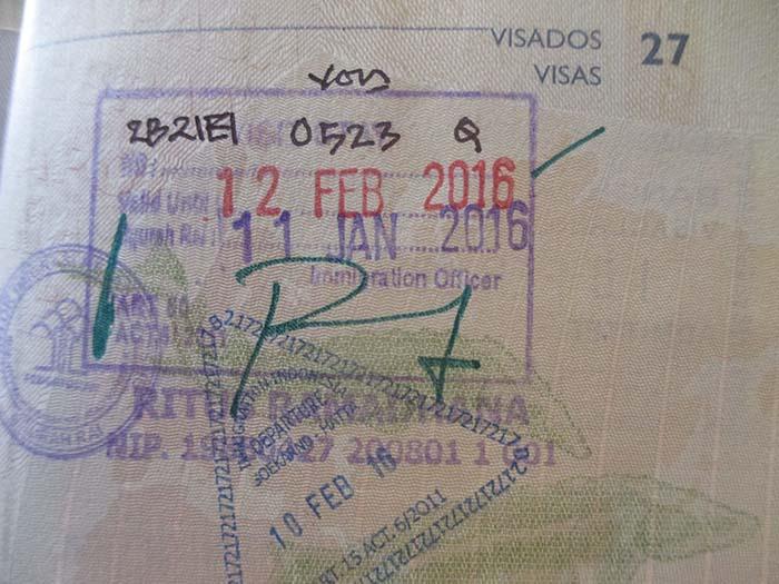 Extensión visado Indonesia