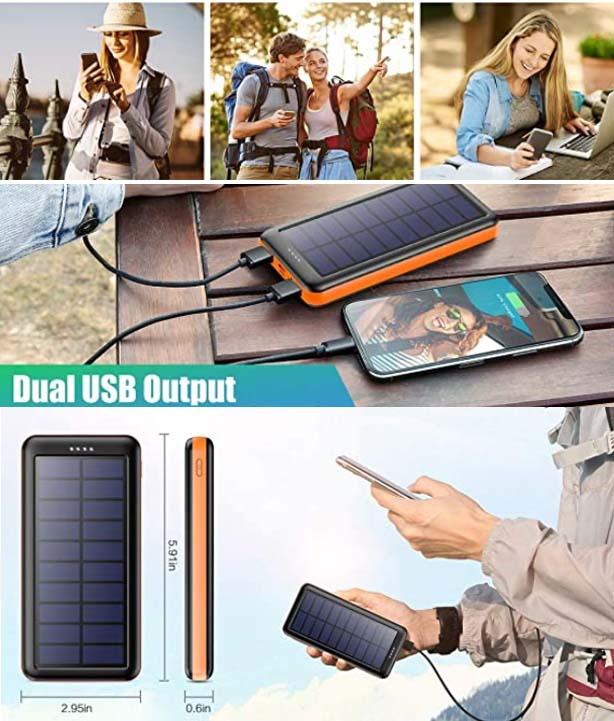 Cargador solar portátil de viaje