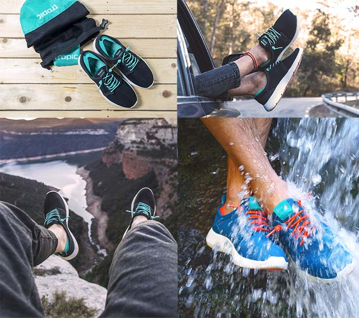Regalo viajero calzado de viaje Tropic calzado para viajar