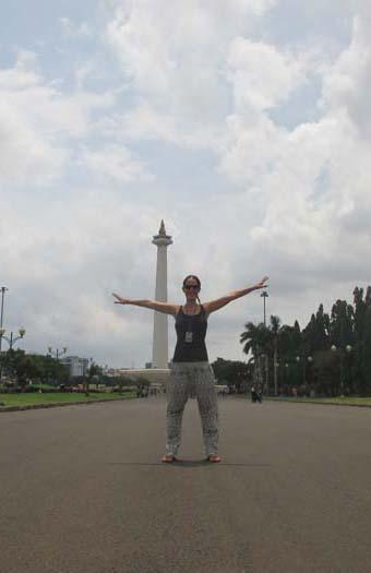 Monumen Nasional justo detrás mío :)