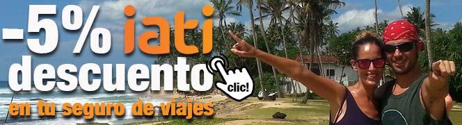 Descuento IATI seguro de viaje internacional viviendo por el mundo