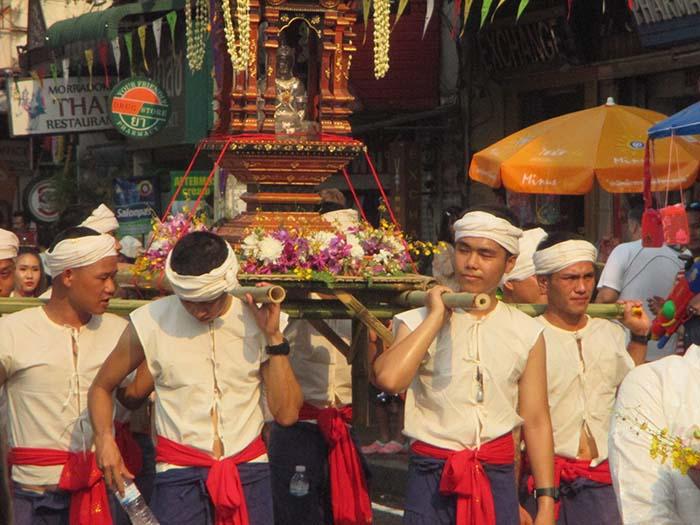El fin de año tailandés Songkran