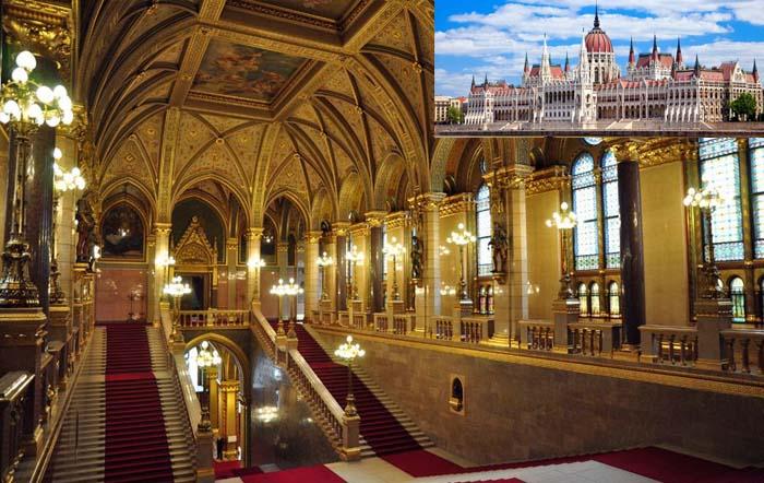 Entradas Parlamento de Budapest interior