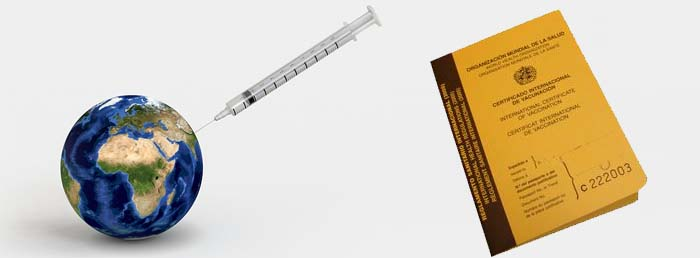 Carné de vacunas para dar la vuelta al mundo.