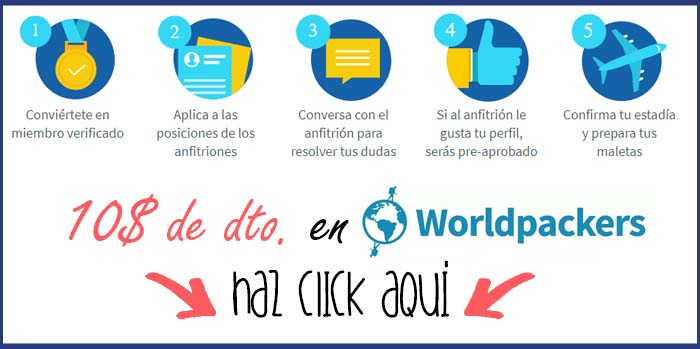 Descuento Worldpackers opiniones