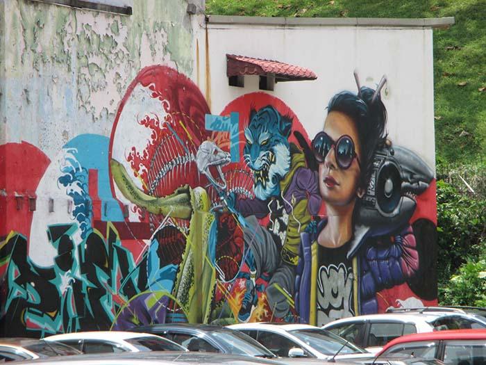 Arte Urbano en Kuala Lumpur Viviendoporelmundo