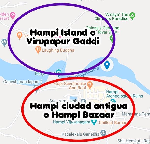 2 zonas de Hampi Viviendoporelmundo
