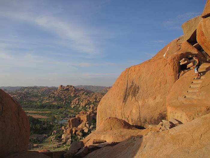 Atardecer en Hampi arriba del Matanga Hill (16)