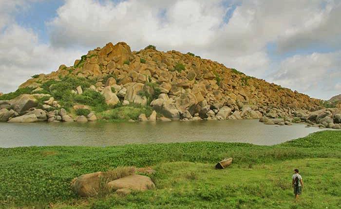 Río Tungabahadra en Hampi