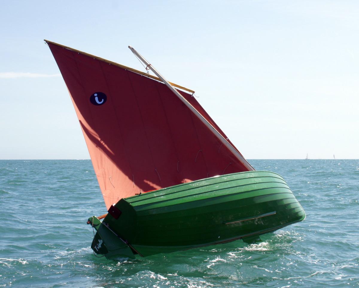 Pas si facile de faire chavirer tout seul le bateau !