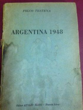 """Il libro """"Argentina 1948"""" acquistato da mia madre"""
