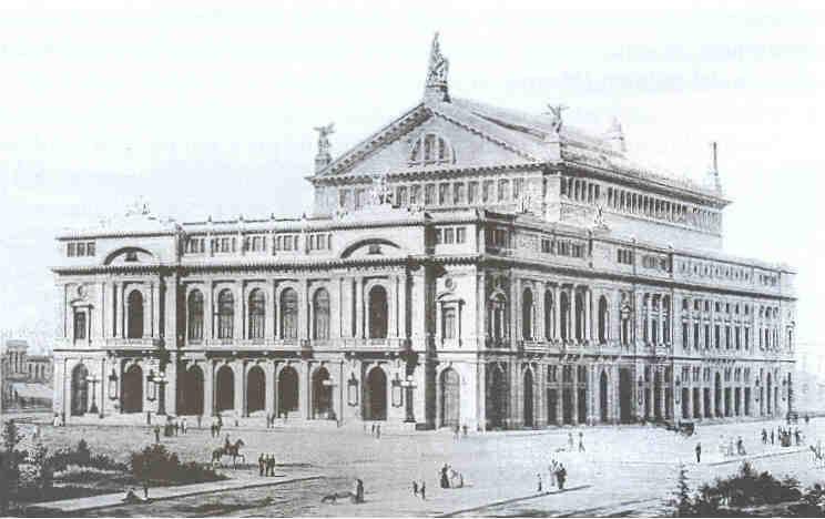 Teatro Colon disegno di Meano