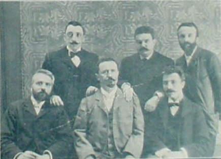 Vittorio Meano e i colleghi dello studio