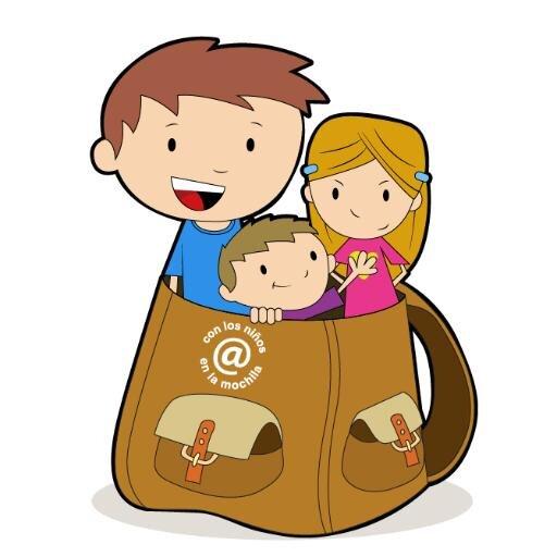 Logo con los niños en la mochila benidorm
