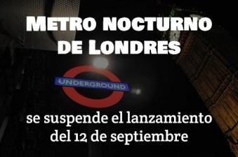 metro nocturno de londres