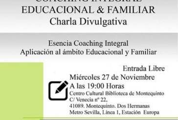 Charla divulgativa sobre 'Coaching Integral Educacional y Familiar'