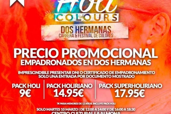 HOLI COLOURS REGRESA A DOS HERMANAS