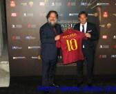 Russel Crowe al Colosseo con Francesco Totti
