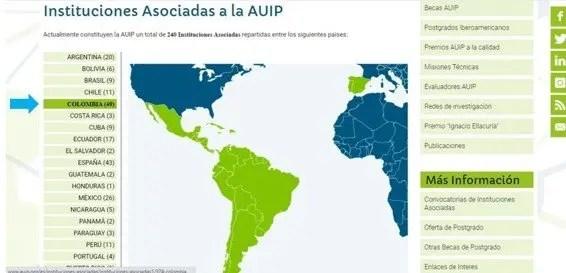 lista de paises vinculados a la auip