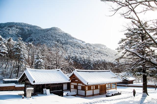 Invierno en Corea del Sur.