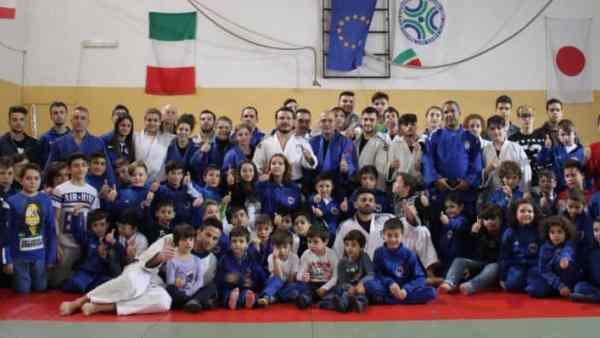 Le Fiamme Azzurre  di judo a Telese Terme