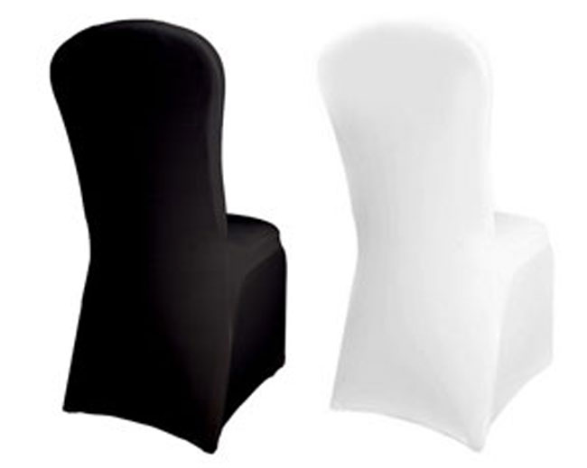 banquet chair covers cheap of hampshire facebook spandex / lycra cover white black wedding reception party | ebay