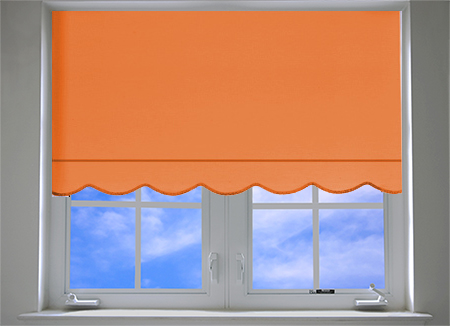 SCALLOP QUALITY STRAIGHT EDGE WINDOW ROLLER BLINDS EASY