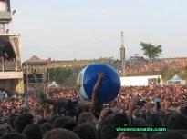 Festejando desde antes de que comience el concierto de The Offspring