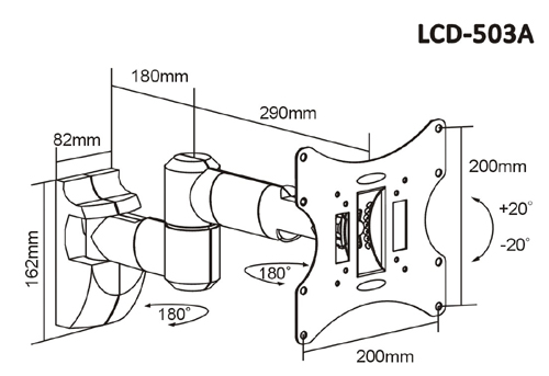 UKs Lowest Priced Dual Arm TFT/ LED /LCD Swivel Wall Mount