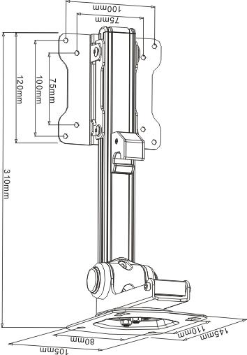 Under Cabinet Bracket- LCD-CM211, LCD-CM211