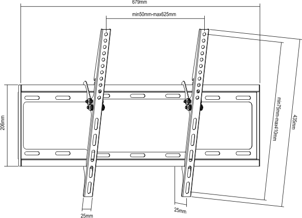 Black Universal Flat Panel- LP34-46T, LP34-46T