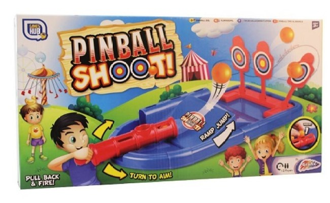 Pinball Shoot Tabletop Target Game Kids 2 Player Blaster