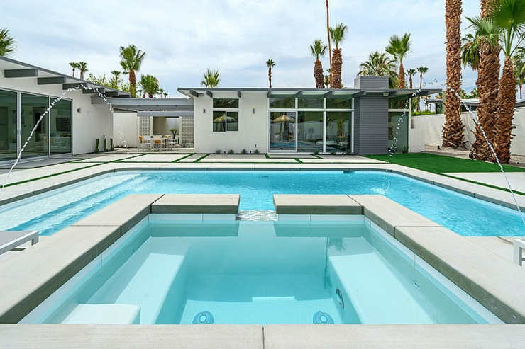 Belle demeure contemporaine californienne  Palm Springs  Vivons maison