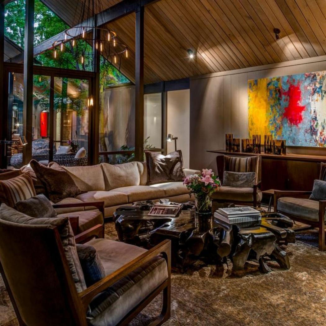 interieur design sombre d une jolie maison de plain pied a san francisco design deco originale sombre