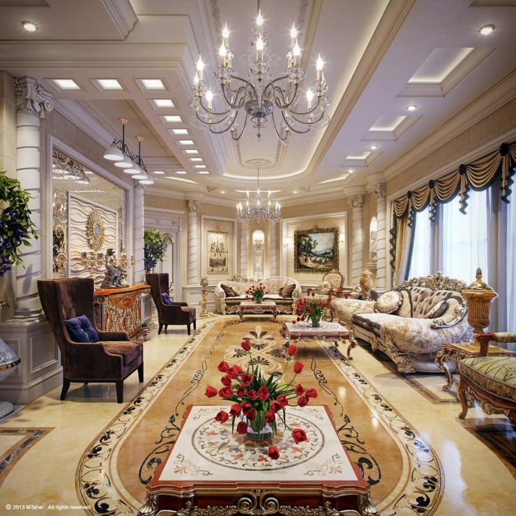 Villa De Luxe Au Design D Interieur Oriental Au Qatar Vivons Maison