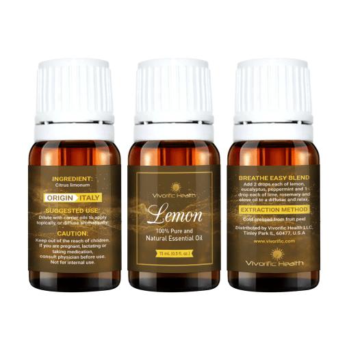 Lemon Essential Oil - Vivorific Health LLC-