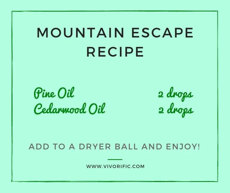 Esssential oils for dryer balls - Mountain Escape-Vivorifc Health