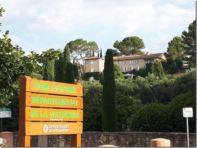 Parcours running Fontmerle 1- Entrée Parc Valmasque
