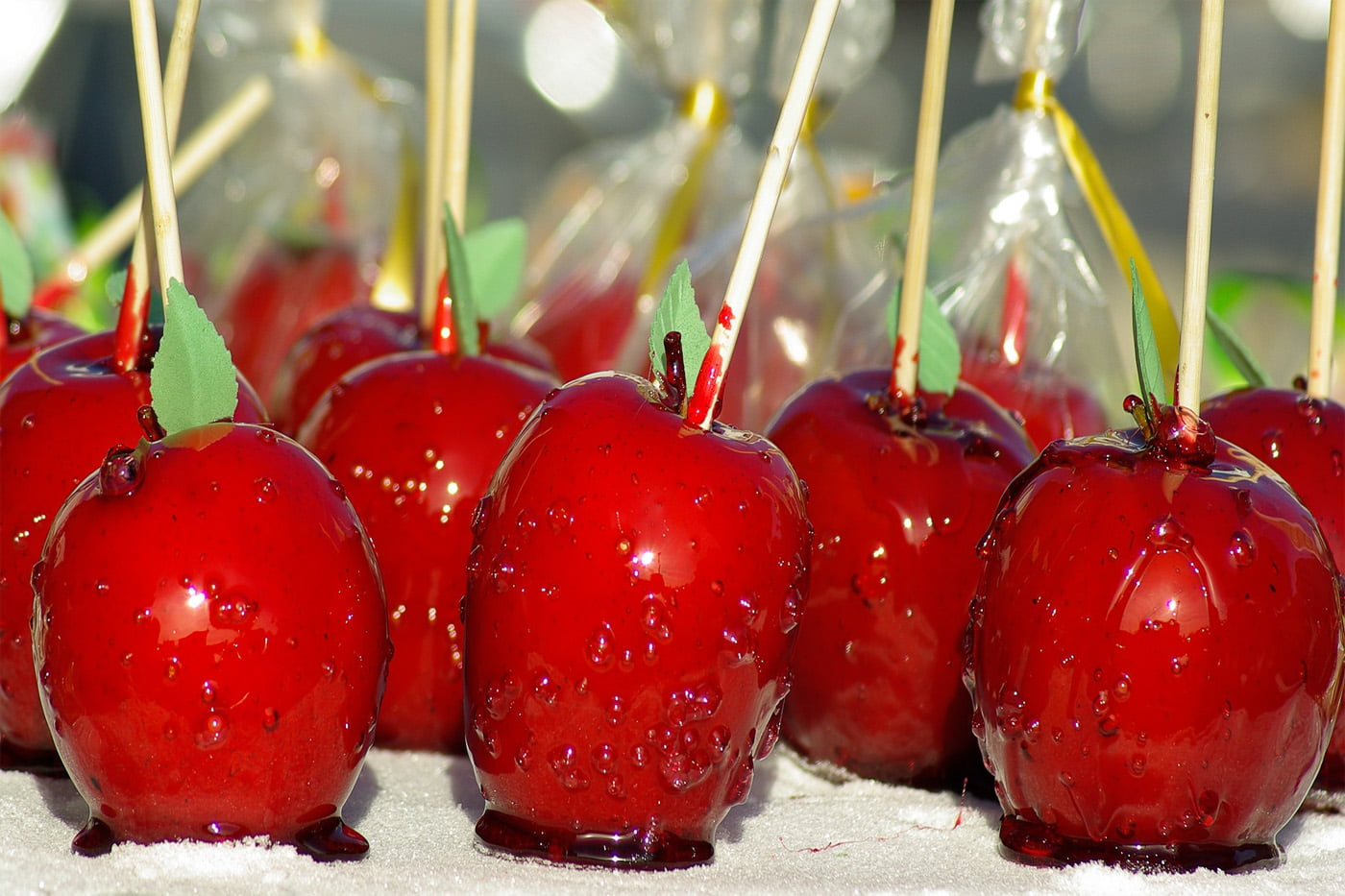 The Perfect Halloween Treat - Multicoloured Toffee Apples