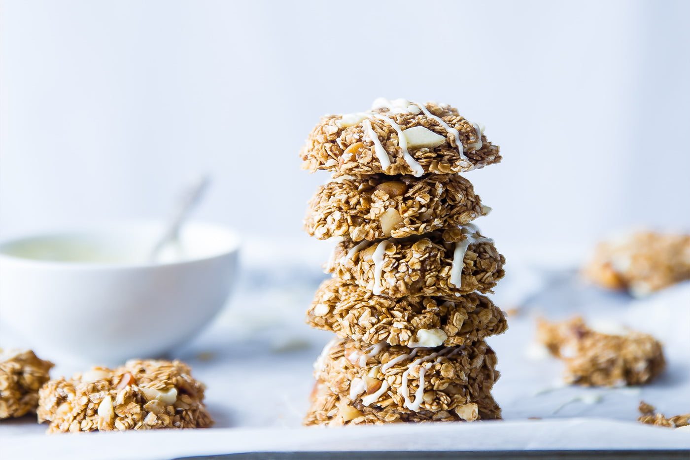 Deliciously Chewy, Nutty, Apple with Walnut Flapjack