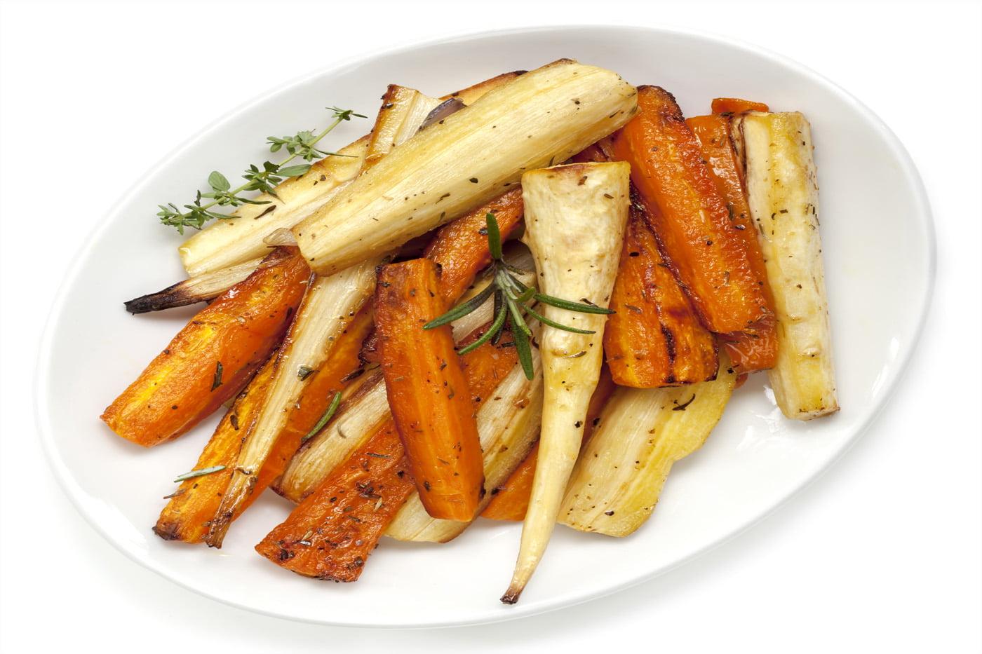 Sticky Maple-Glazed Parsnips And Carrots