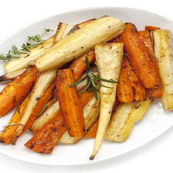 Sticky Maple-Glazed Parsnips And Carrots